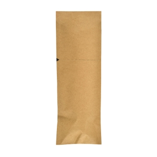 Sacchetto Portaposate cm 8,5x25  Avana sigillabile con adesivo con Tovagliolo Bianco