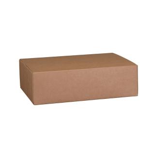 Scatola in cartocino avana naturale  riciclabile cm 40x32x12