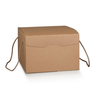 Scatola in cartoncino avana elegance con cordini cm  29x35,5x19,5 ct da 20 pezzi