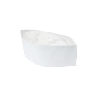 Bustina copricapo in carta bianca regolabile