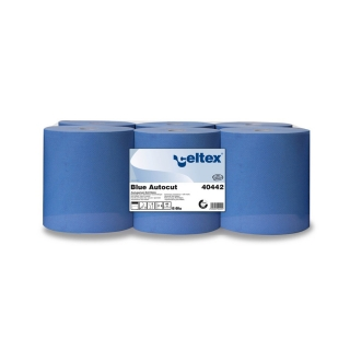 Rotolo di carta blu 3 veli mt 100 h cm 20 Ecolabel per dispenser
