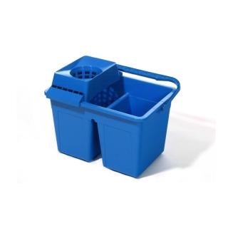 Secchio rettangolare a due vasche con strizza mop capacita lt 6 x 2 cm 42,5x30,5x26