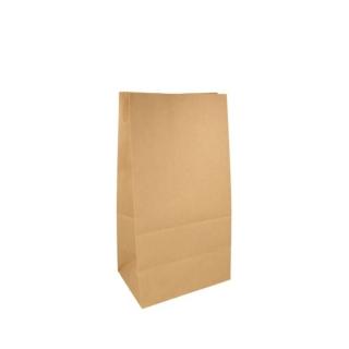 Sacchetto avana senza manici cm 15x10 h32 gr 80 fondo piatto riciclabile e biodegradabile