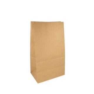 Sacchetto avana senza manici cm 20x9 h34,5 gr 80 fondo piatto riciclabile e biodegradabile