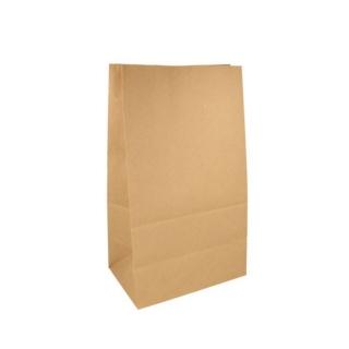 Sacchetto avana senza manici cm 22x14 h37 gr 80 fondo piatto riciclabile e biodegradabile