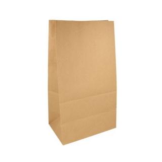 Sacchetto avana senza manici cm 25x15 h43,5 gr 80 fondo piatto riciclabile e biodegradabile