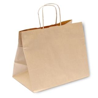 Shopper di carta avana con manico ritorto cm 36x21x 33,5 gr 90/mq