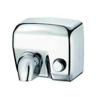 Asciugamani ad aria Hamet  in acciaio inox brillante con pulsante