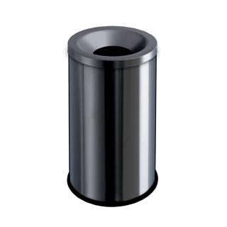 Gettacarte antifuoco in acciaio nero cm 33,5x33,5x58,5