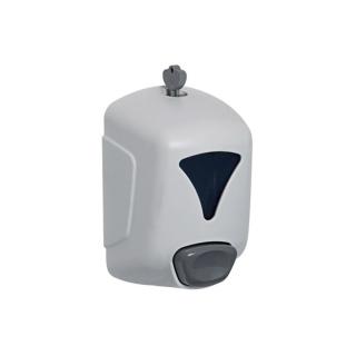 Distributore sapone bianco in abs a riempimento 350 ml.