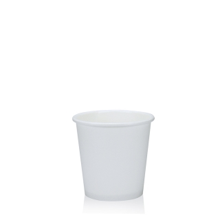 Bicchiere caffè bianco in cartoncino politenato 4 oz 80 ml