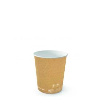 Bicchiere di cartoncino bio avana 4oz ml 125