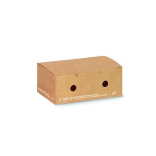Scatola in cartoncino compostabile avana cm 12x10x7