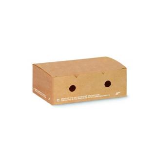 Scatola in cartoncino compostabile avana cm 20x12x7