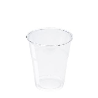 Bicchiere in Pet trasparente cc 250 tacca 200