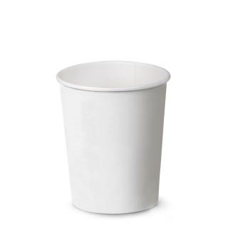 Bicchiere bevanda calda bianco  in cartoncino politenato 9oz 270 ml imbustato