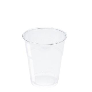 Bicchiere in Pet trasparente cc 300 tacca 250