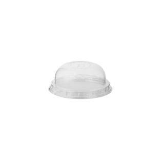 Coperchio dome con pretaglio cannucia per bicchiere in PLA Bio cc 250