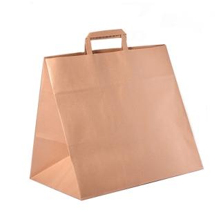 Shopper di carta avana cm 36 + 31 x 36 gr 100/mq
