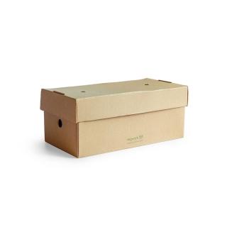 Scatola per hamburgher in cartoncino riciclato cm 24,4x12,2x10