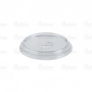 Coperchio piatto con taglio a croce in Pet per bicchiere cc 575