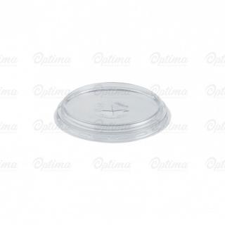 Coperchio piatto con pretaglio cannuccia in Pet per bicchiere cc 300 base larga/390