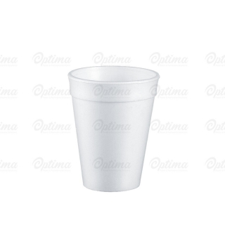 Bicchiere termico bianco in polistirolo espanso cc 300