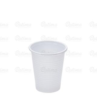 Bicchiere plastica bianca cc 200 in Polipropilene