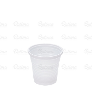 Bicchierino di plastica bianca cc 80