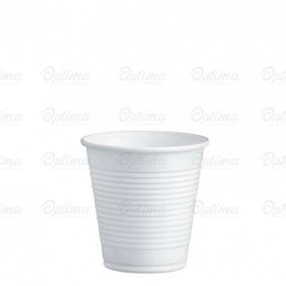 Bicchiere di plastica bianca cc 160