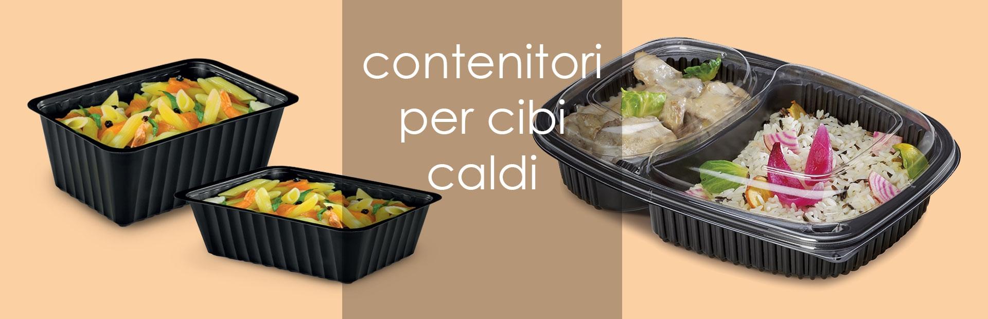 Contenitori take away e delivery per cibi caldi
